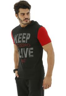 Camiseta Com Capuz Everlast - Masculino-Preto