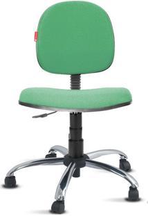 Cadeira Executiva Giratória Cromada Crepe Verde Sol