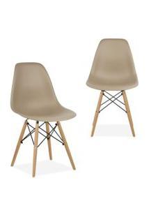Kit 02 Cadeiras Decorativas Lym Decor Eiffel Charles Nude