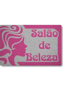 Tapete Capacho Salao De Beleza - Prata