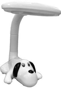 Luminária De Mesa Dog Polietileno 1X9W 127V - Branco