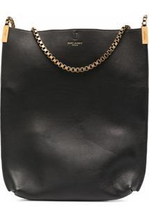 Saint Laurent Chain Strap Hobo Shoulder Bag - Preto