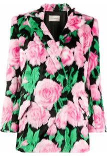 Giuseppe Di Morabito Blazer Abotoamento Simples Com Estampa Floral - Rosa