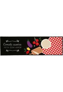 Tapete Cleankasa Gourmet Caseiro- Preto & Branco- 16Kapazi