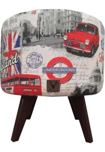 Puff Pé Palito Redondo Alce Couch Drytex Londres 40Cm