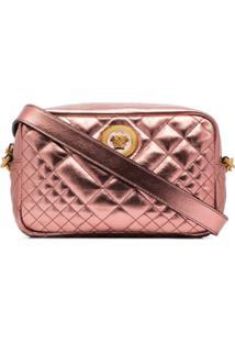 Versace Bolsa Matelassê Icon - Rosa