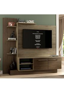 Estante Para Tv Até 52'' 2 Portas Es110 Cedro/Wood - Decibal Móveis