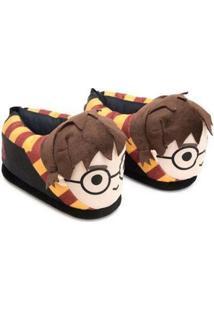 Pantufa Ricsen 3D Harry Potter - Unissex-Preto