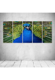 Quadro Decorativo - Peacock - Composto De 5 Quadros - Multicolorido - Dafiti