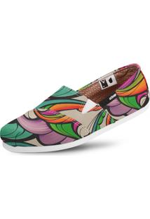 Alpargata Usthemp Slim Vegano Casual Art Ripple Nice Multicolorido