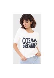 Blusa Maria Filó Cosmic Dreamer Off-White