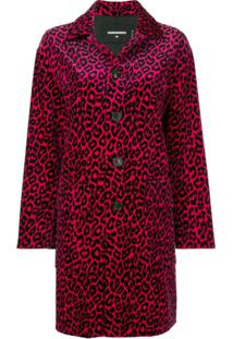 Dsquared2 Trench Coat Com Estampa De Leopardo - Rosa