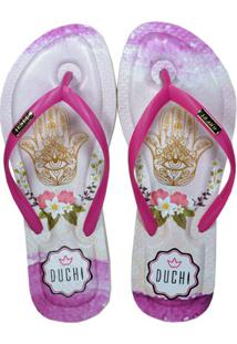 Chinelo New Aconchego Duchi - Hamsá Floral