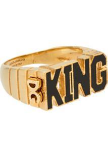 Dolce & Gabbana Anel King Metálico - Dourado