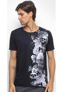 Camiseta Derek Ho Cutout Skull Garden Caveira Masculina - Masculino-Preto