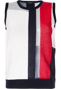 Loveless Blusa De Tricô Color Block - Estampado