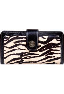 Carteira Artlux Animal Print Preto