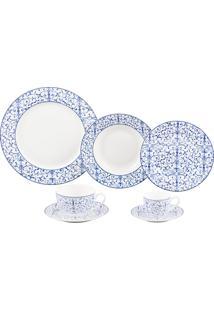 Aparelho De Jantar De Porcelana Super White Litt Wolff – 42 Peças