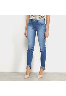 Calça Jeans Forum Marisa Estonada Feminina - Feminino-Azul Piscina