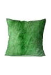 Capa De Almofada Avulsa Decorativa Verde 45X45Cm