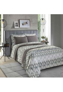 Fronha Para Travesseiro Inovare 1 Peça Nice E Castanho - Sbx Têxtil