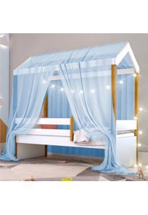 Cama Montessoriana Exclusiv Solteiro Fio De Luz E Voal Azul Casah - Azul - Dafiti