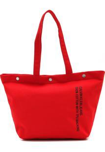 Bolsa Calvin Klein Lettering Vermelha
