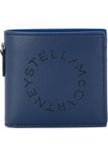 Stella Mccartney Carteira Dobrável Com Logo - Azul