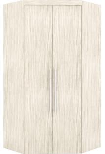Guarda-Roupa Canto Closet Virtual 2 Portas S/Espelho Com Gavetas Rovere Robel Off-White - Bege - Dafiti