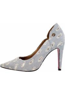 Scarpin Week Shoes Salto Alto Jeans Glitter