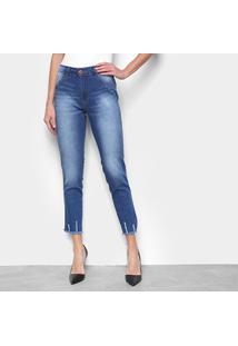 Calça Jeans Skinny Biotipo Midi Cintura Alta Feminina - Feminino