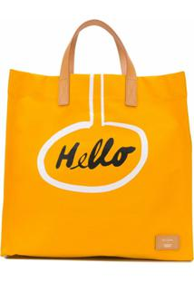 Paul Smith Bolsa Tote Hello X Christoph Niemann - Amarelo