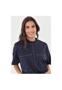 Camiseta Colcci Bolsos Azul-Marinho