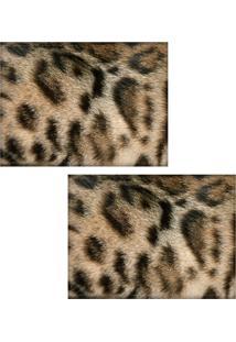 Jogo Americano Colours Creative Photo Decor - Textura Felino - 2 Peças