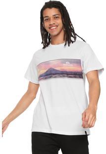 Camiseta Quiksilver Fuji Fuji Branca
