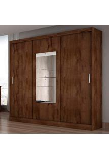 Guarda-Roupa Casal Ônis 3 Portas C/ Espelho – Novo Horizonte - Canela