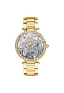 Relógio Coach Feminino Aço Dourado - 14503222