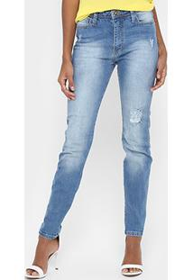 915f7ee5f0 ... Calça Jeans Skinny Forum Marisa Estonada Puídos Cintura Média Feminina  - Feminino