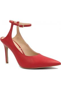 Sapato Zariff Shoes Em Couro Fivela Vermelho