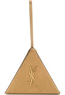 Saint Laurent Bolsa Box Pyramid - Dourado
