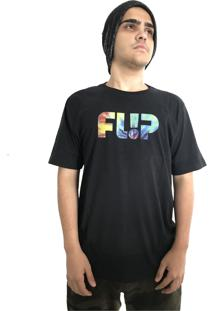 Camiseta Flip Skateboards Odyssey Tie Dye Preta
