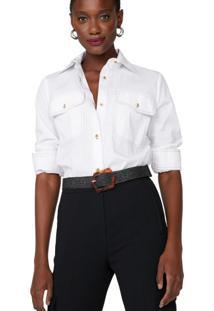 Camisa Tricoline Pesponto Contraste