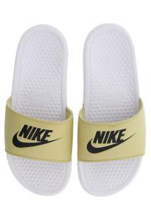 Chinelo Nike Benassi Jdi - Slide - Masculino - Branco/Ouro