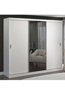 Guarda-Roupa Casal 3 Portas De Correr Com 1 Espelho 100% Mdf 1905E1 Branco - Foscarini