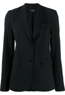 Theory Single Breasted Blazer - Preto