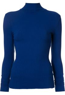Nobody Denim Suéter Canelado 'Luxe' - Azul