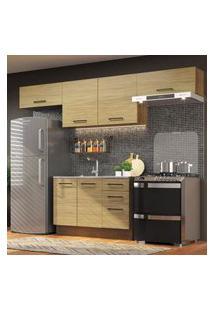 Cozinha Compacta Madesa Agata 280002 Com Armário E Balcáo - Rustic/Carvalho Marrom