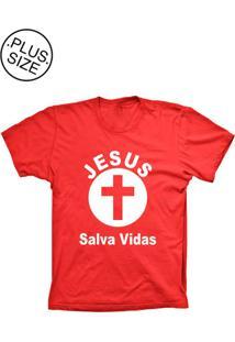 Camiseta Lu Geek Plus Size Salva Vidas Vermelho