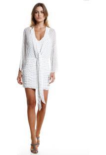 Vestido Rosa Chá Lauren Festa Curto Off White Feminino (Off White, Pp)