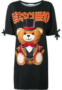 Moschino Vestido 'Circus Teddy Bear' - Preto